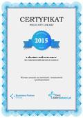 Certyfikat Prywatna Praktyka Lekarska Lek. Med. Renata Mulowska-Gałka
