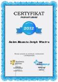 Certyfikat Salon Masażu Dotyk Wiatru
